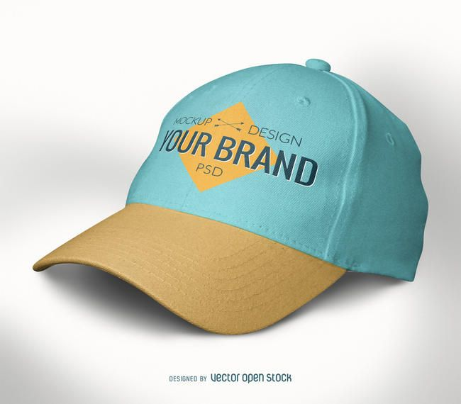Baseball Cap Mockup Template Colors Are Editable As Is The Logo In The Front Of The Hat Includes A Smart Object Layer So You Mockup Psd Baseball Cap Mockup