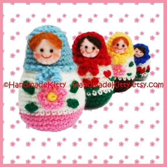 Russian Matryoshka amigurumi babushka Dolls PDF by handmadekitty, $4.99