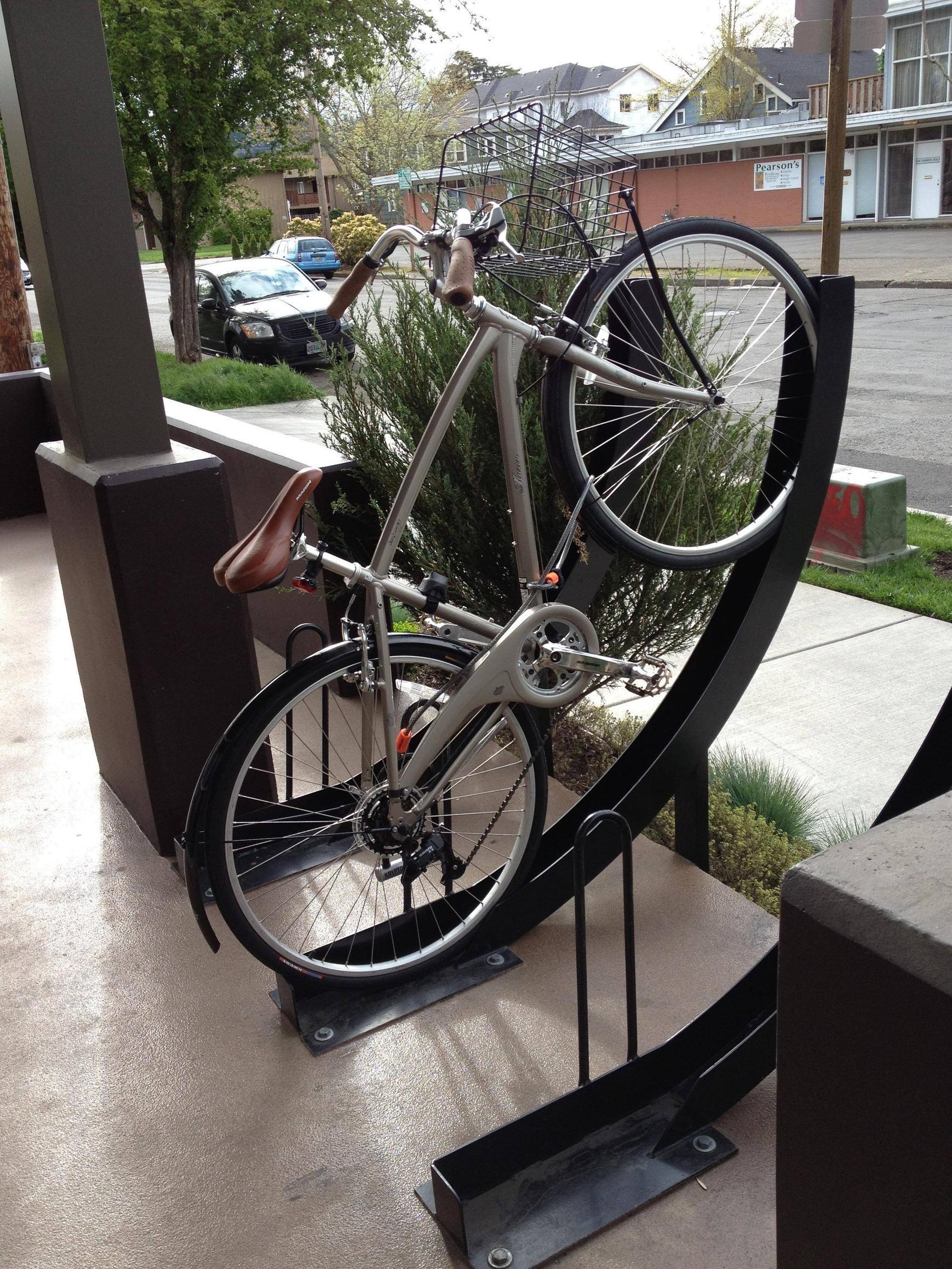 vertical lockup rack 1738 2317 two wheels pinterest. Black Bedroom Furniture Sets. Home Design Ideas
