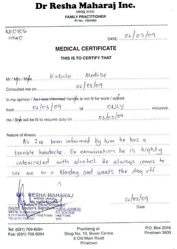 funny sick note were ona need to know basis pinterest sick doctors sick note