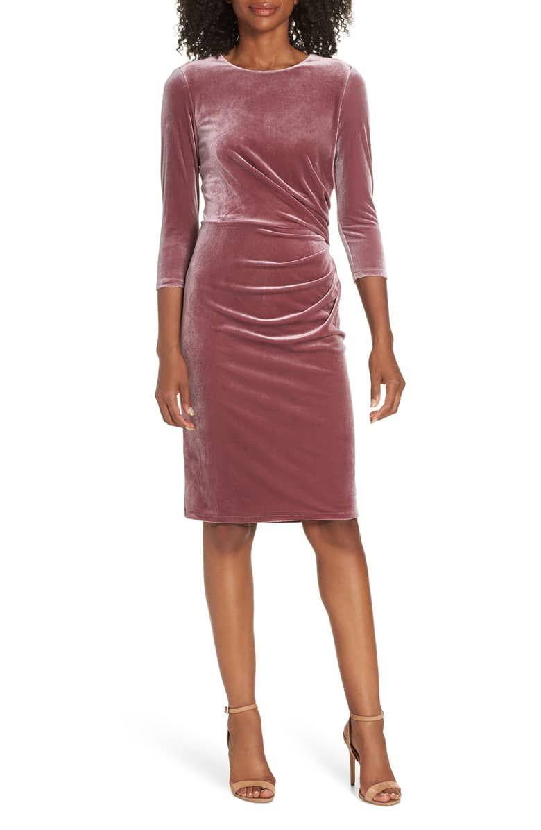 5ca30543f75 Browse mother of the bride dresses. Velvet Sheath Dress