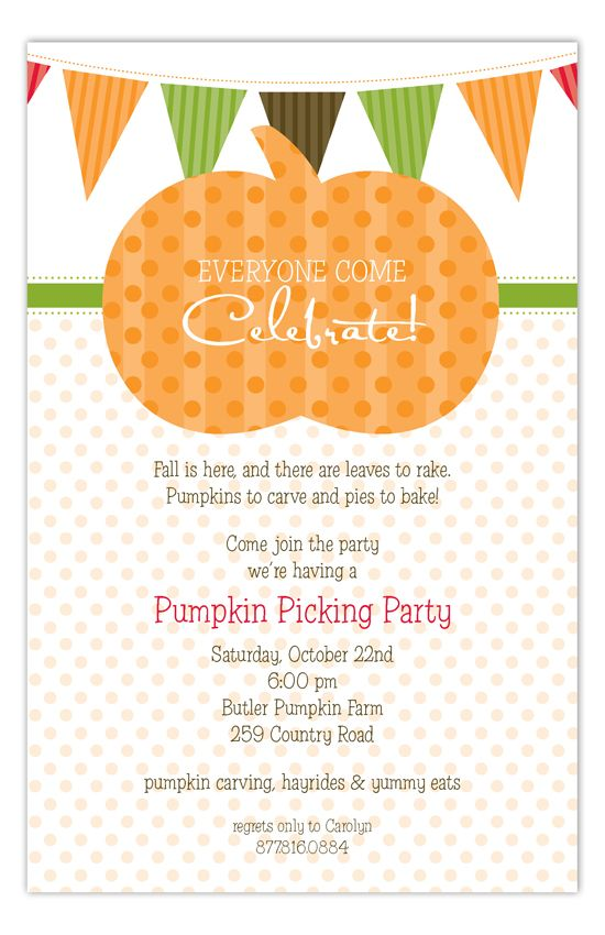 Pumpkin Fest Invitation