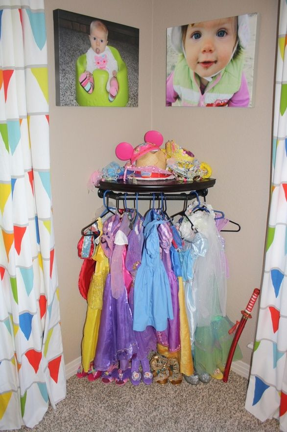 DIY Dress up Storage. use hangers on the dress form or use drawer knobs attached to wall in varying heights  sc 1 st  Pinterest & DIY Dress up Storage. use hangers on the dress form or use drawer ...