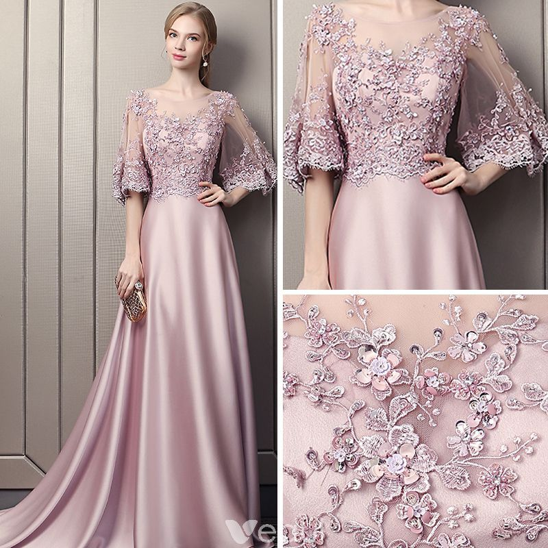 Moderne Mode Rose Bonbon Perce Robe De Soiree 2018 Princesse