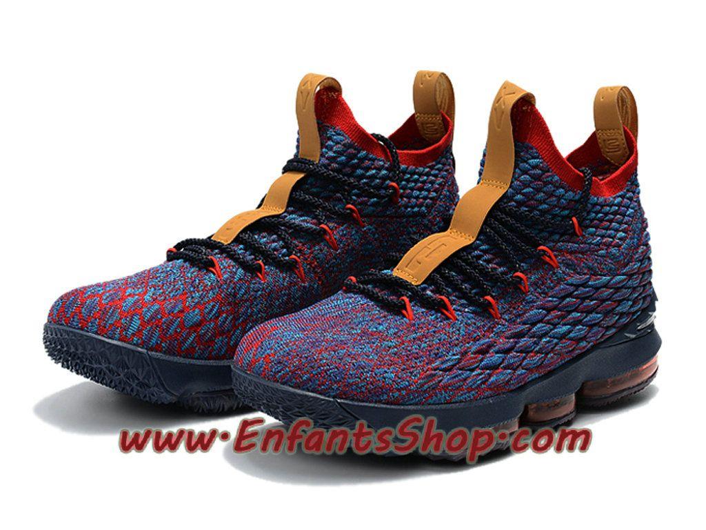 32fba39e62a Nike LeBron 15 XV Chaussures Nike Basket 2018 Pour Homme Bleu Rouge ...