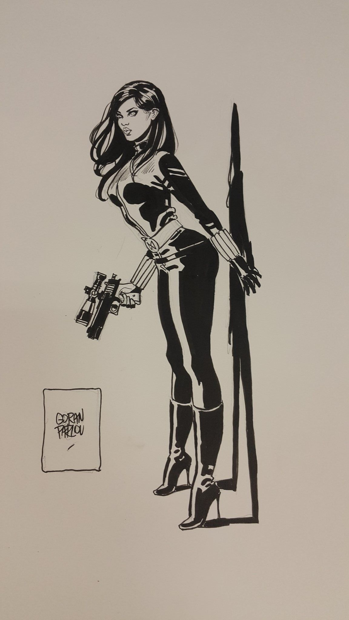 Black Widow By Gorlan Parlov Comic Art Marvel Universe
