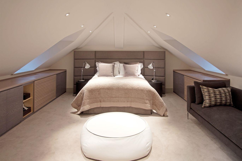 Disposition meubles mansardes  Attic bedroom small, Small loft