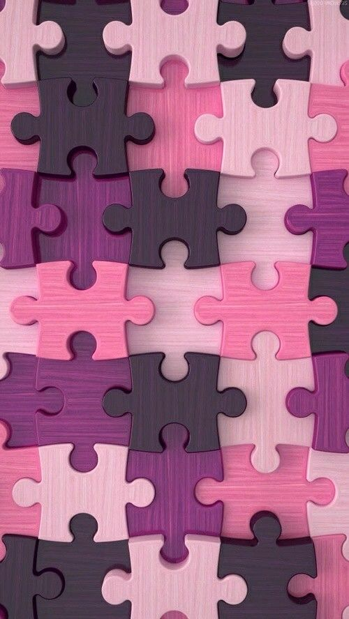 Pink and Purple Puzzle Piece Wallpaper | *Pink and Flowers ...