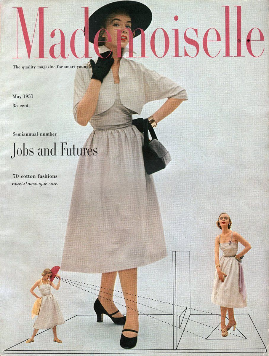 Myvintagevogue Com On Twitter Mademoiselle Magazine Vintage Vogue Fashion Magazine Cover