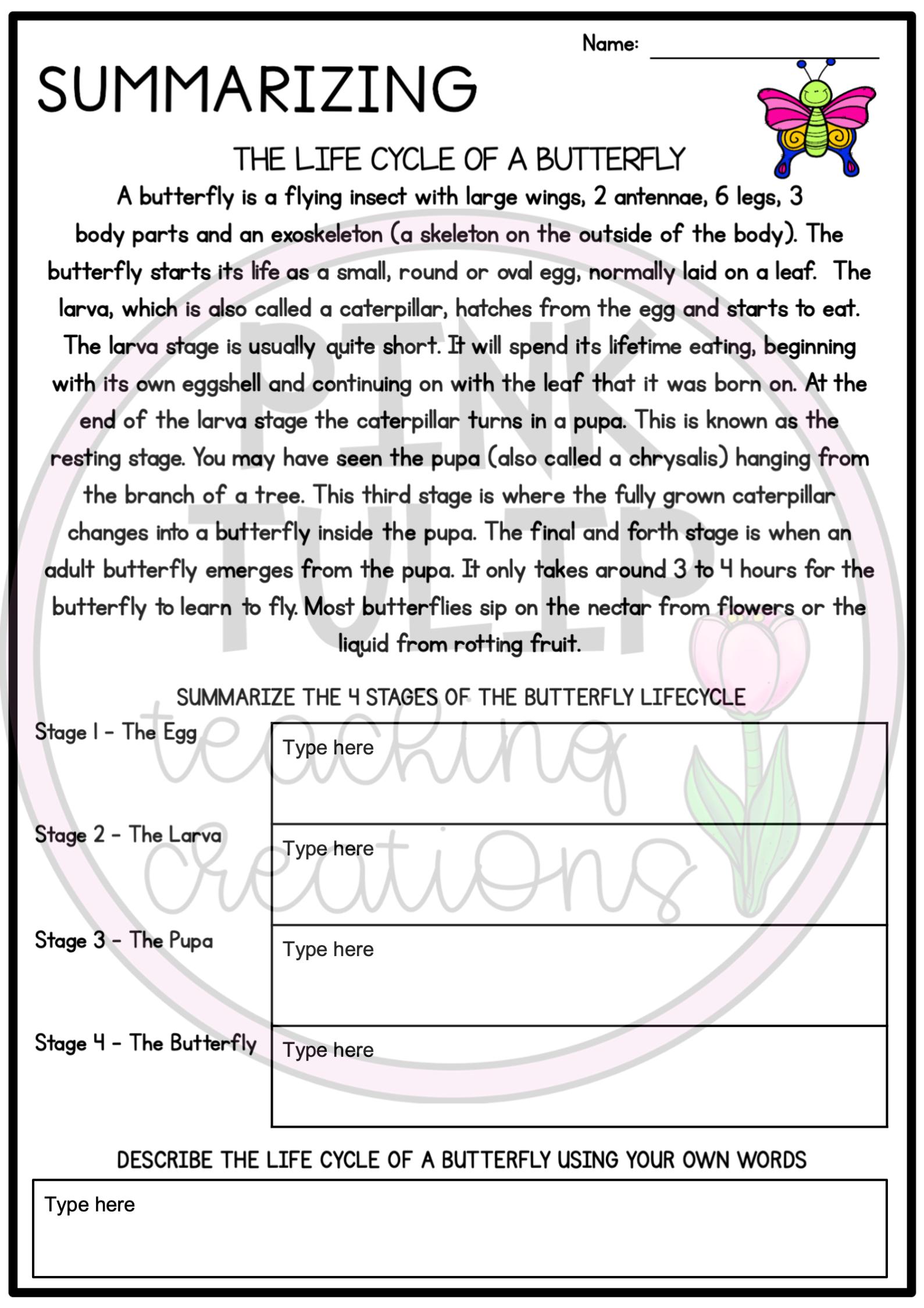 Summarizing Summarising Reading Pack Slides