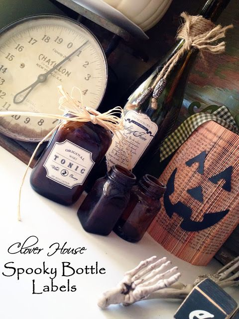 Clover House: DIY Spooky Bottle Labels