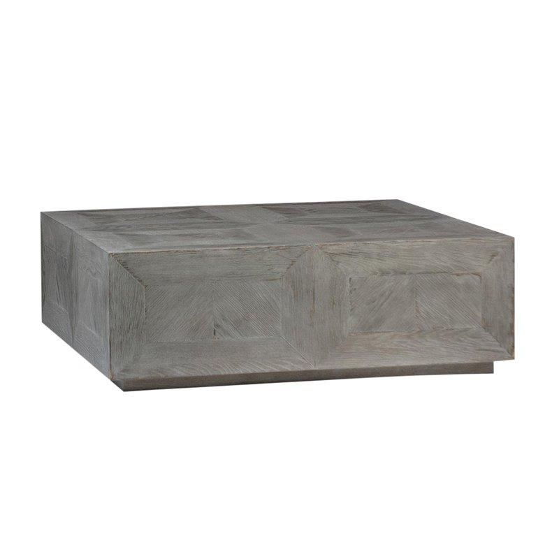 Reclaimed Wood Block Coffee Table
