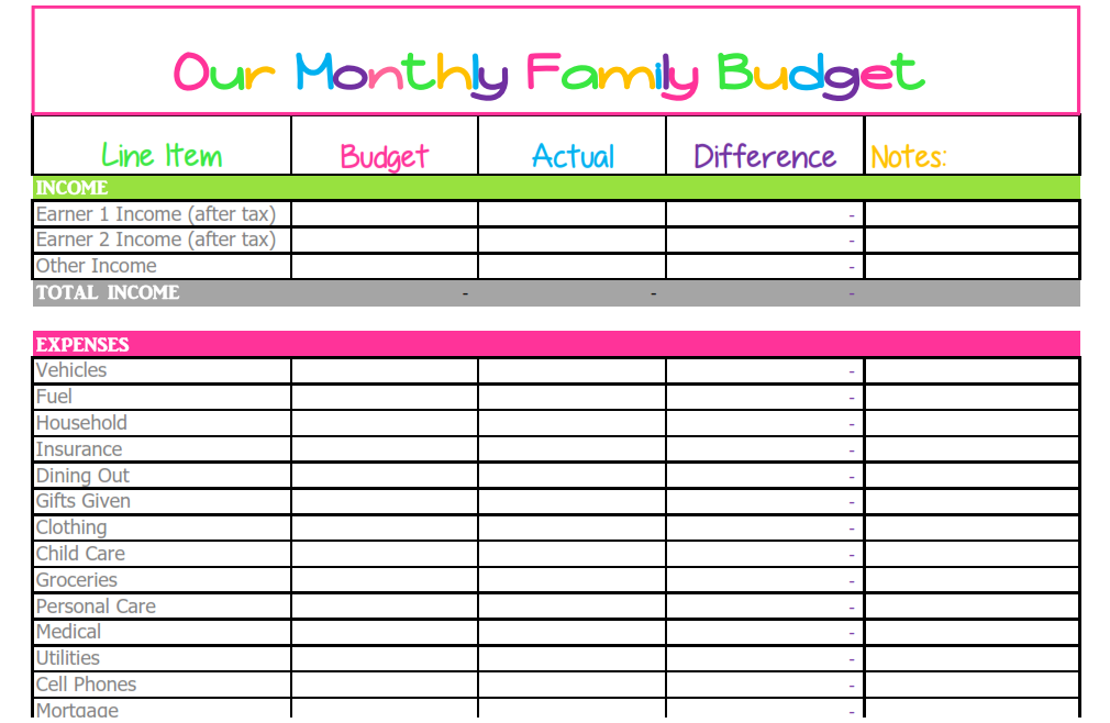 Printables Bill Budget Worksheet 1000 ideas about monthly budget template on pinterest printable budgeting worksheets and household templa