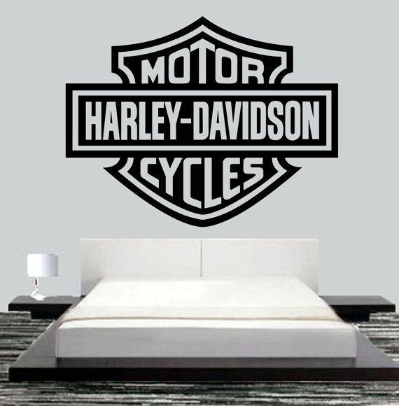 Harley Davidson Motor Wall Mural Art Vinyl Decal by JCMCUSTOM $27.95  sc 1 st  Pinterest & Harley Davidson Motor Wall Mural Art Vinyl Decal by JCMCUSTOM ...