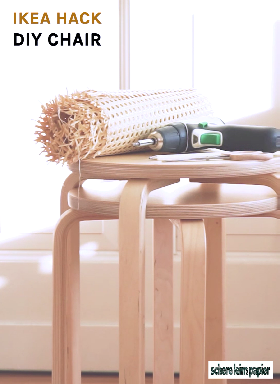IKEA Hack Stuhl DIY / how to craft a chair
