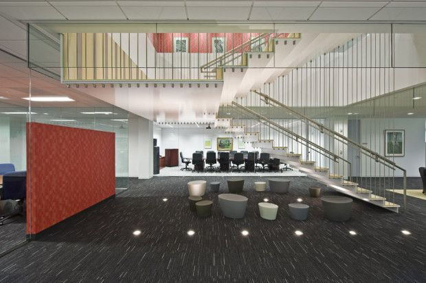 Unisys World Headquarters #Staircase by M. Cohen and Sons