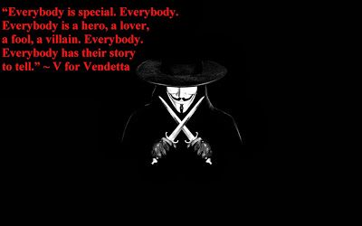 Jimi J Jemel Everybody Is Special Vendetta Quotes V For Vendetta Quotes V For Vendetta