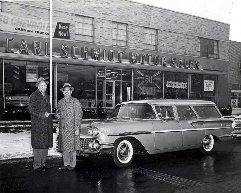 Delivering A New 1958 Chevrolet Nomad Chevrolet Dealership Car