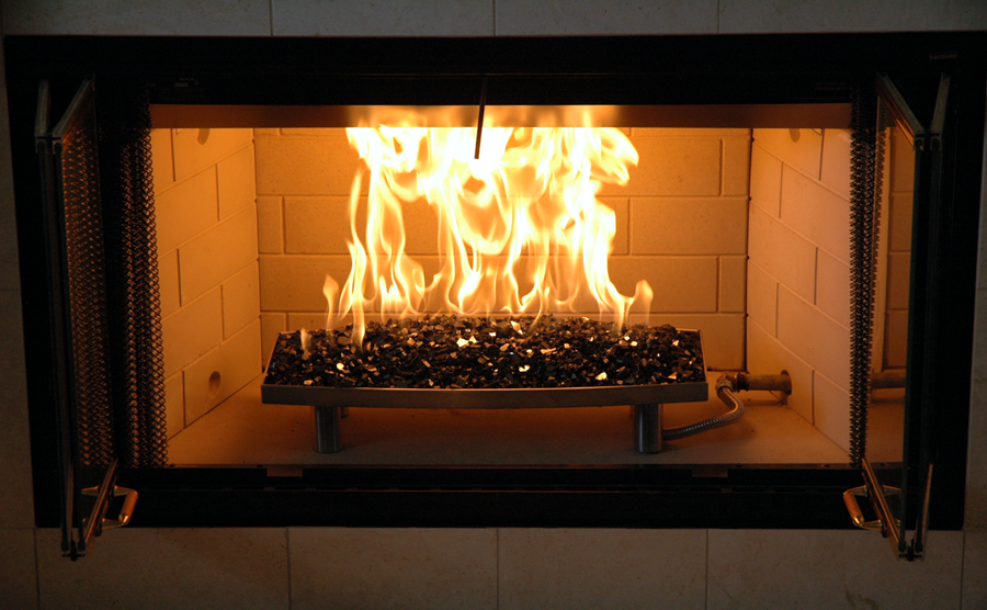 Fireplace With Fire Glass Decoration Glass Fireplace Fire Glass Fireplace Fireplace Glass Doors