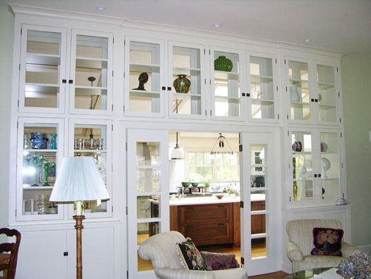 white living room cabinets with glass doors | Pinterest | Living ...