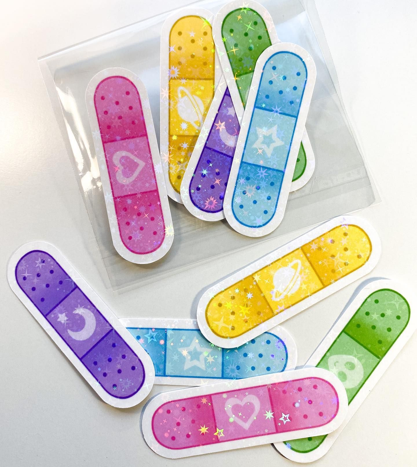 Holographic Band Aid Stickers Available Now Holographicstickers Holographic Bandaid Cute C Bandaid Sticker Print Stickers Cute Stickers [ 1610 x 1440 Pixel ]