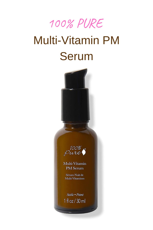 100 PURE MultiVitamin PM Serum, AntiAging Night Cream