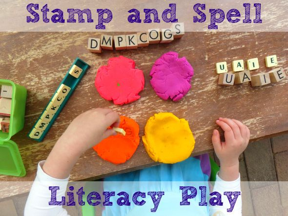 Literacy Activities: Stamp & Spell Literacy Play | Literacy ...