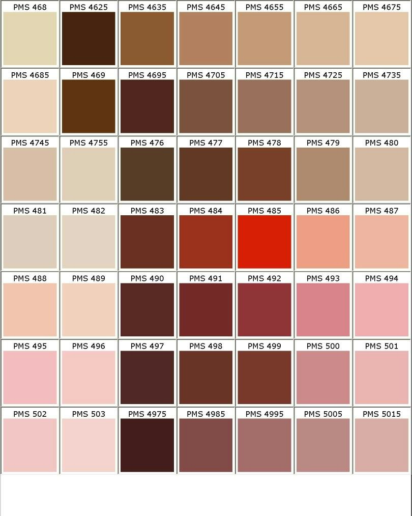 Nuancier pantone marron rose beige d co nuanciers for Peinture colours nuancier