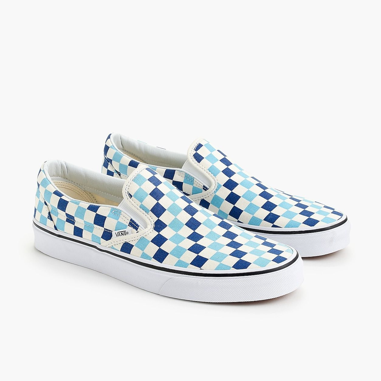 5023b75baf9 Vans Slip-On Sneakers In Blue Checkerboard