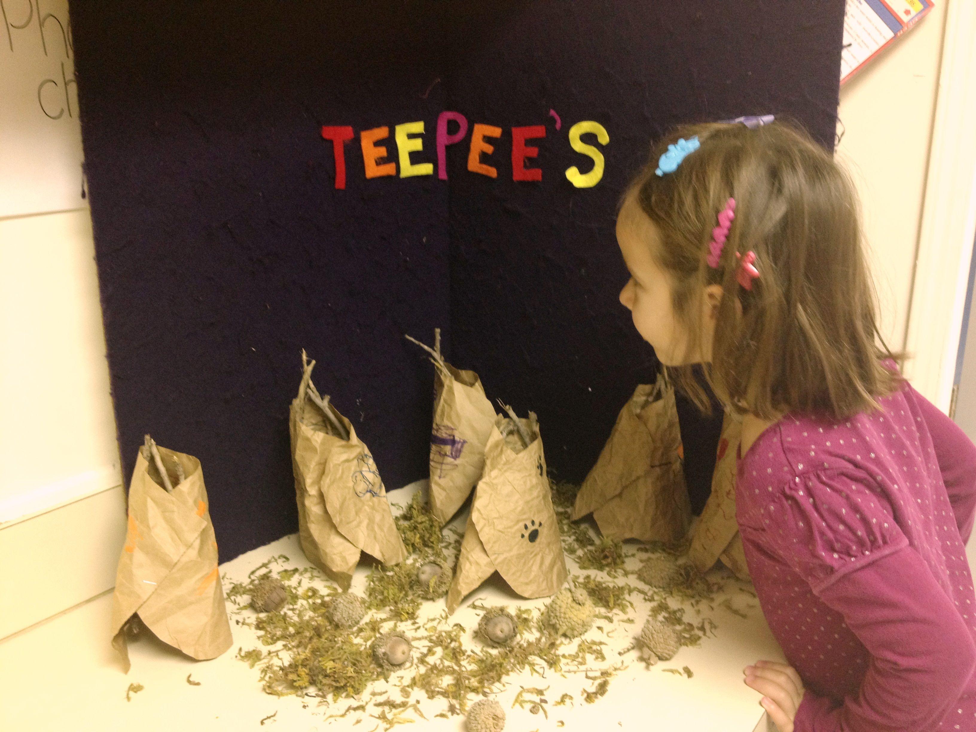 Teepee Scene For November Theme Prek Class
