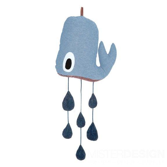 FERM whale mobile - bij MISTERDESIGN.BE - 33€