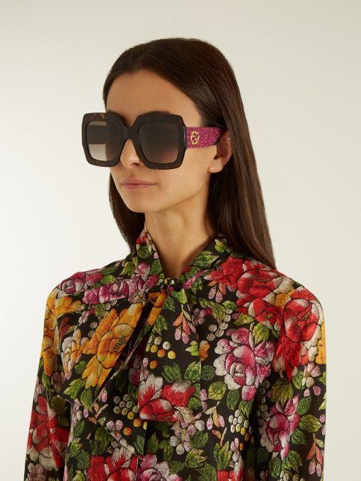 43c4ead251 Gucci Oversized square-frame sunglasses
