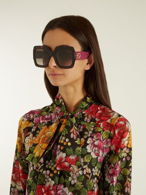 e5170507eaf Gucci Oversized square-frame sunglasses