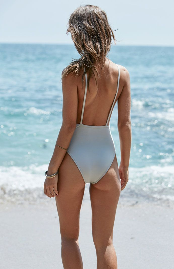 c4217b734837 Rachel Cook || PACSUN x LA HEARTS Solid Low-Back One Piece Swimsuit ...