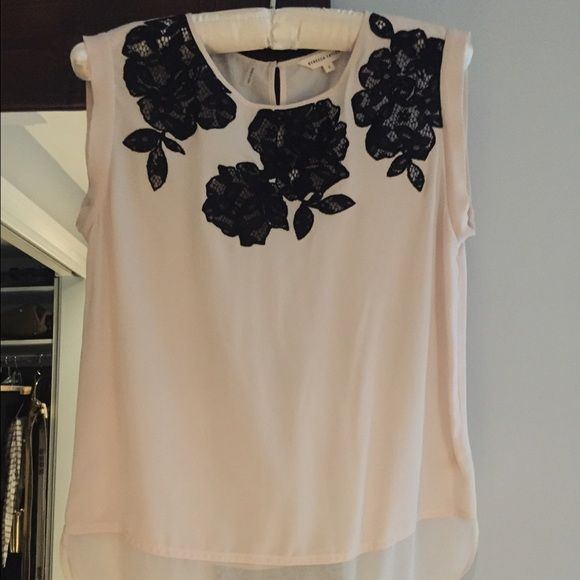 Rebecca Taylor black rose blouse Rebecca Taylor black rose blouse. Worn 2 times. Rebecca Taylor Tops Blouses