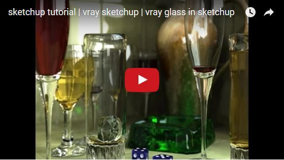 sketchup tutorial | vray sketchup | vray glass in sketchup | Sketchup tutorial