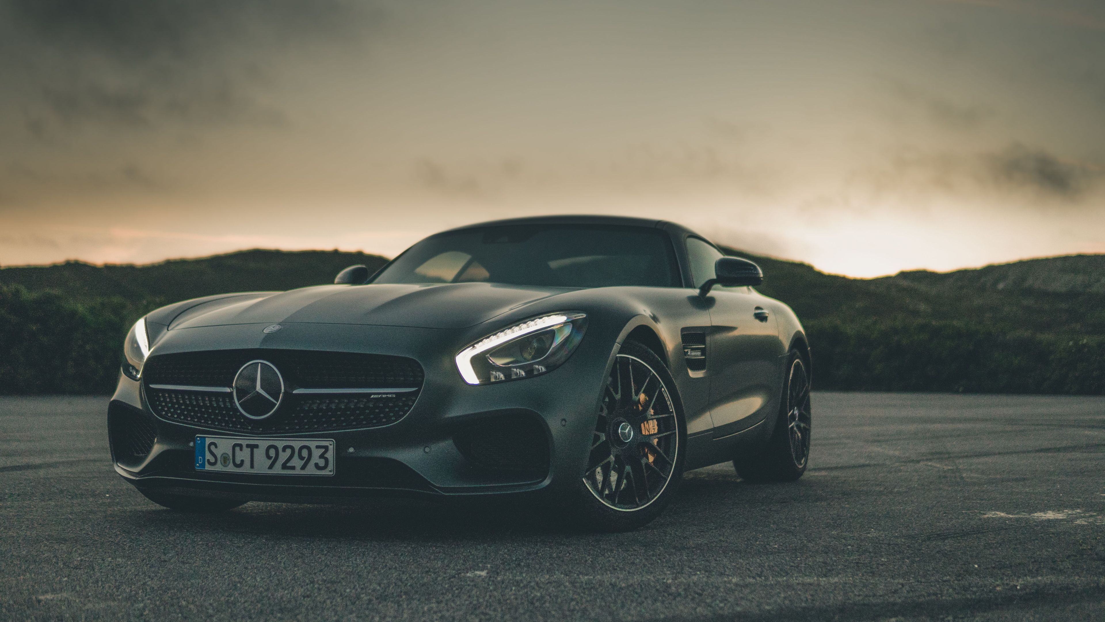 Black Mercedes Benz Amg Gt 4k Mercedes Wallpapers Mercedes