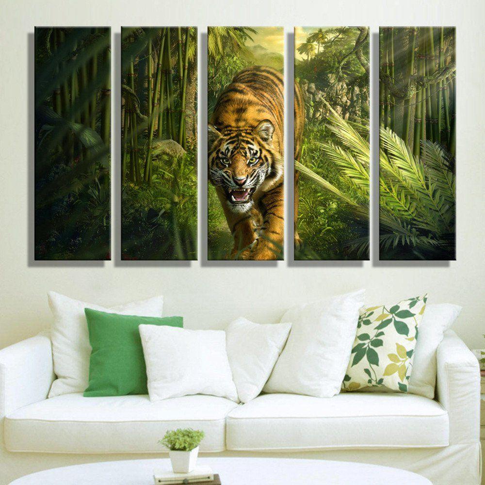 tiger wall art painting