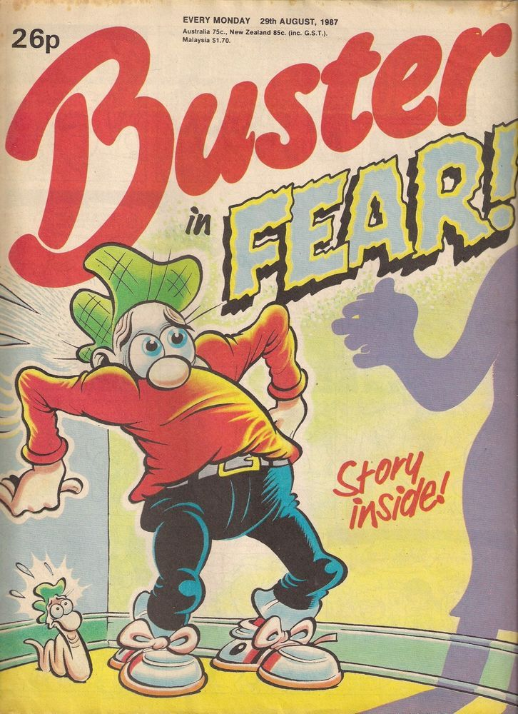 BUSTER  BRITISH COMIC  29th AUGUST 1987  f-(5.5) ~~~