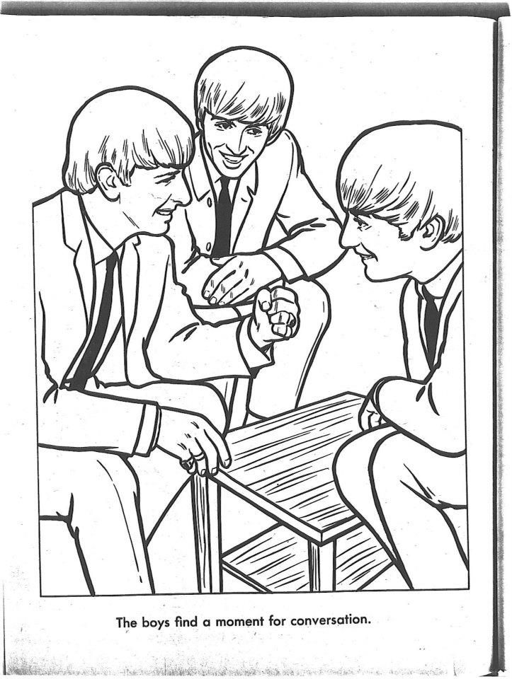 The Beatles Coloring Page 04 | Beatles | Pinterest | Abbey road ...