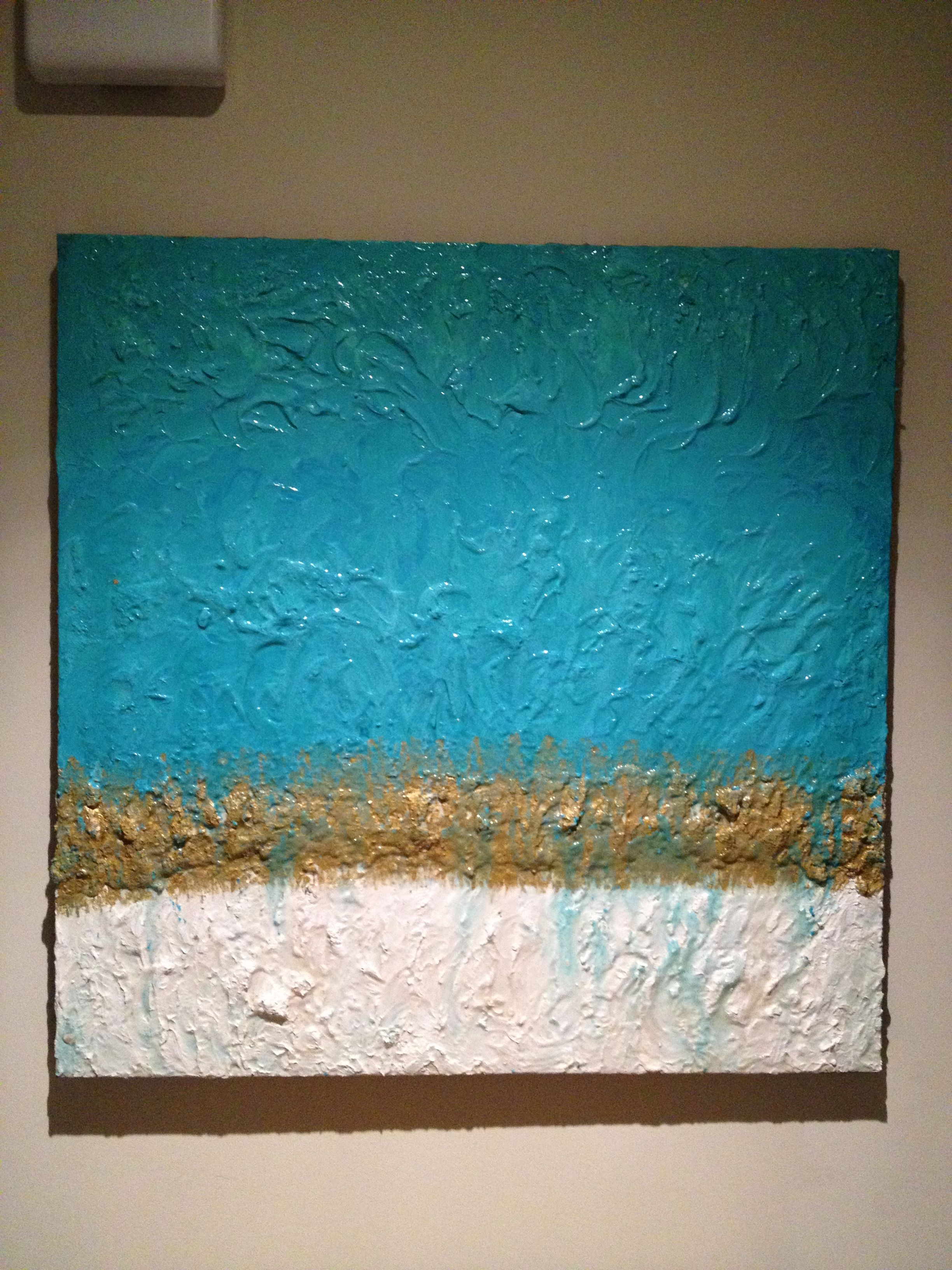 Art 36 x36 thick canvas with plaster of paris mixed with for Plaster crafts to paint