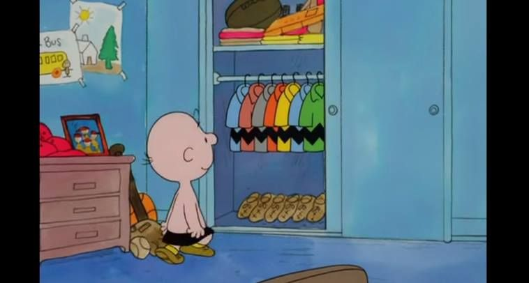 Image result for charlie brown closet