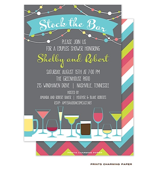 , cheap stock the bar party invitations, free stock the bar party invitations, stock the bar engagement party invitations, invitation samples