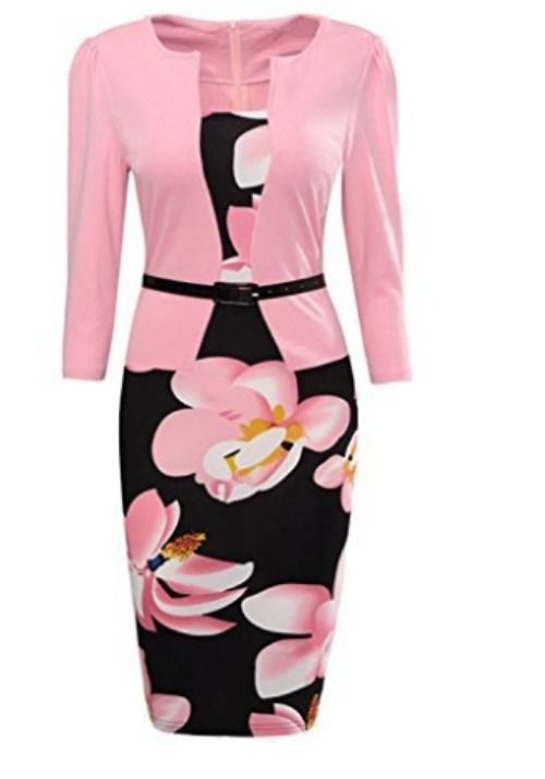 I am in love with this dress.  It is so stunning and there are many different styles. One piece color block dress