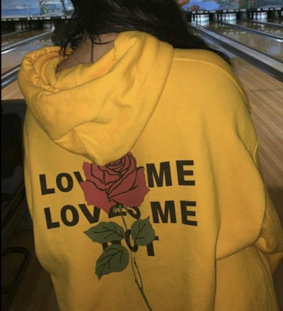 555f224d Yellow hoodie, red roses. | Bound 2 in 2019 | Yellow hoodie, Yellow ...