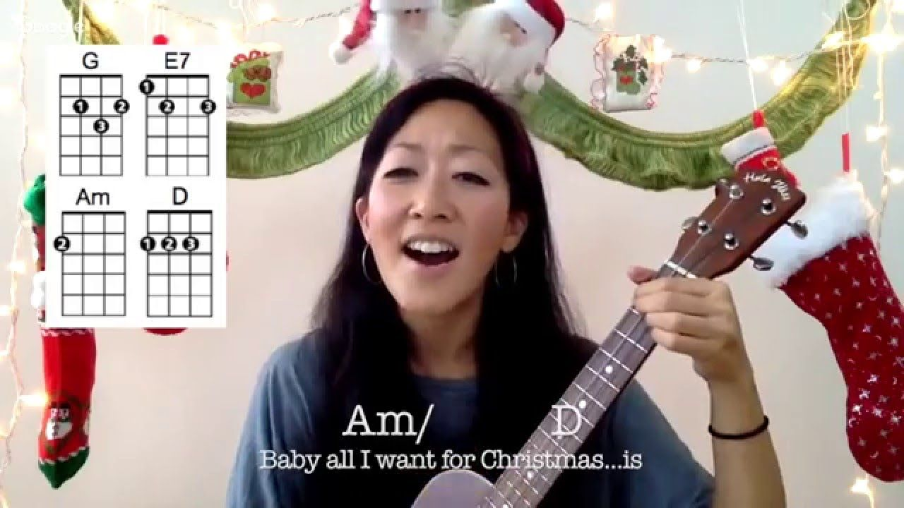 All I Want For Christmas Is You Ukulele Play Along Youtube Ukulele Songs Beginner Ukulele Guitar Kids