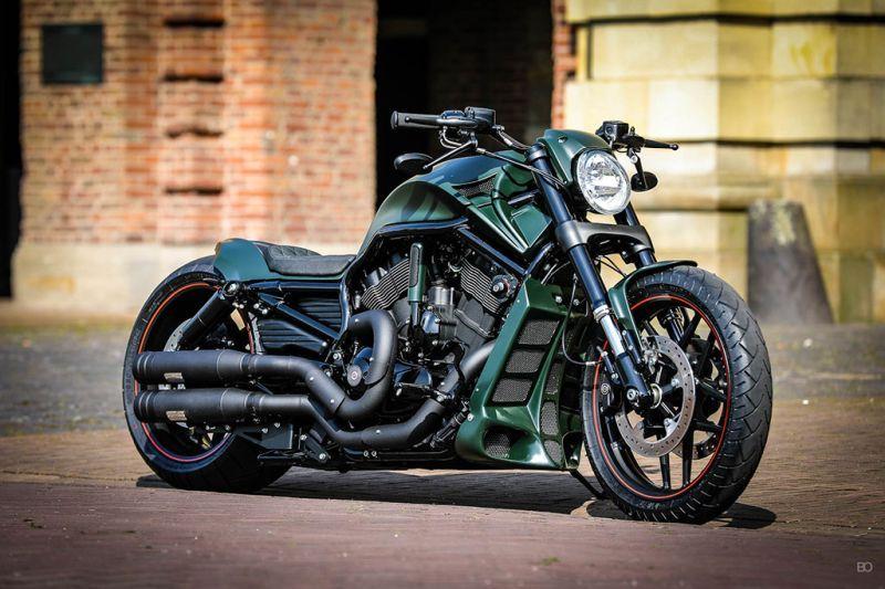 Harley Davidson V Rod Green Poison By Thunderbike Harley Davidson Pictures Harley Davidson Painting Harley Davidson Motorcycles