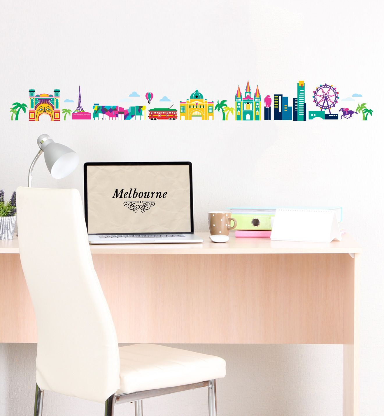 Melbourne Skyline Wall Sticker Little Sticker Boy Wall Prints