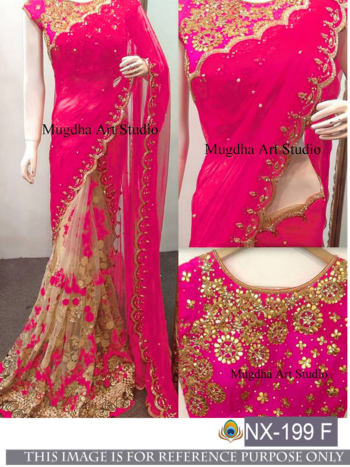 Wedding Indian Pakistani Saree Sari Bollywood Ethnic Lehenga