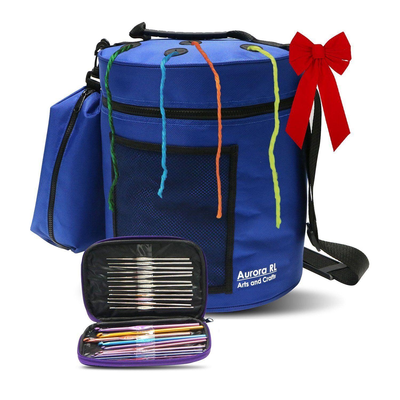 Yarn Storage Bag - includes Accessory Bag and 22 Piece Crochet Hook Set  sc 1 st  Pinterest & Yarn Storage Bag - by AuroraRL   Yarn storage Crochet hook set and ...